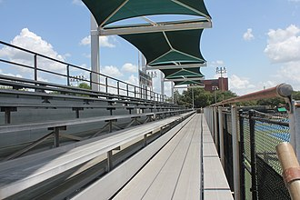 Lamar Cardinals and Lady Cardinals tennis - Image: Lamar Tennis Courts on the grandstands