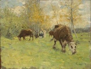Landskap med kor