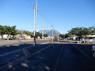 Langa, Cape Town - Langa with Table Mountain in the background