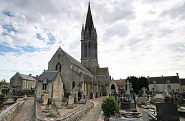 The church in Langrune-sur-Mer