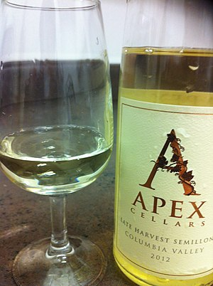 Late harvest wine - A late harvest Semillon from Washington State.