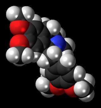 Laudanosine - Image: Laudanosine molecule spacefill