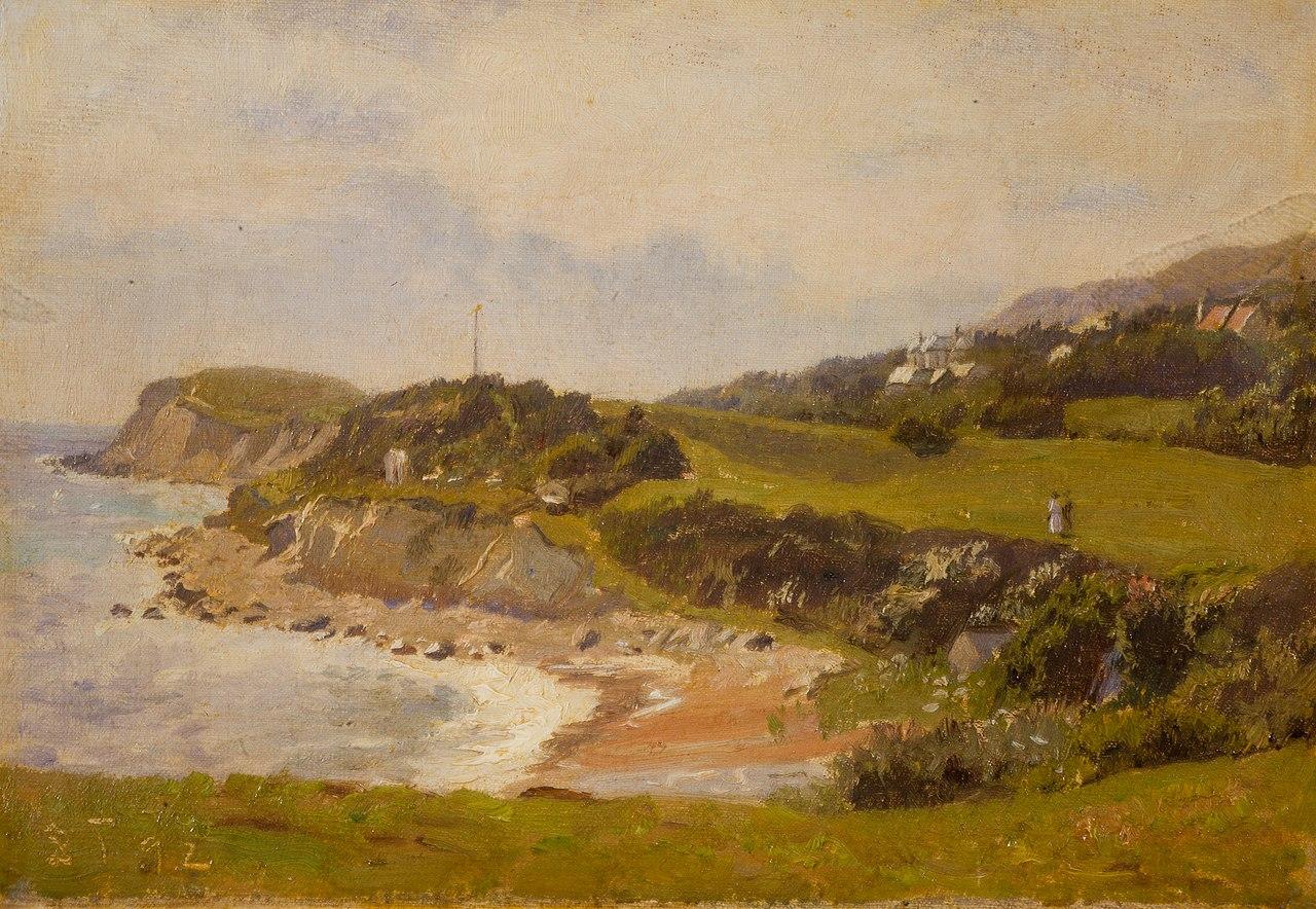 Laurits Tuxen, Kystparti fra Isle of Wright med Osborne House, 1892, SKM1442, Skagens Museum.jpg