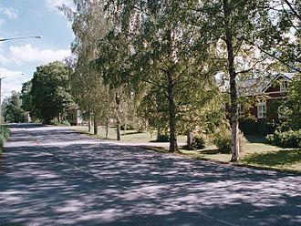 Lavia, Finland - A street in Lavia