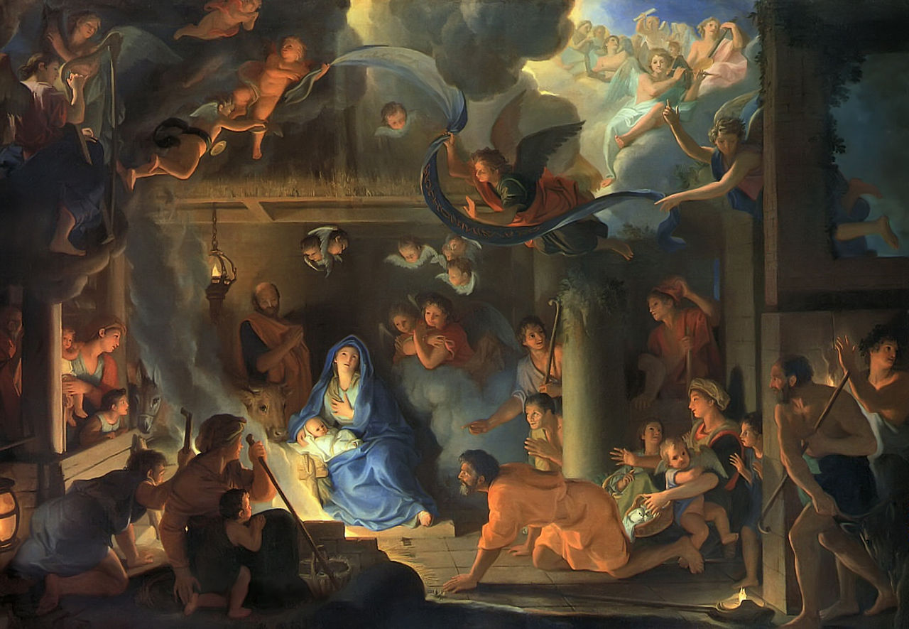 12 Days of Christmas: Charles Le Brun, Adoration of the Shepherds, 1639, Louvre, Paris, France.