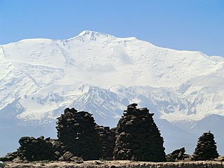Lenin Peak Mountain in Kyrgyzstan