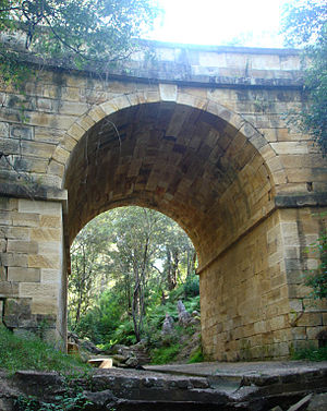 David Lennox - The historic Lennox Bridge at Lapstone Hill is the oldest bridge on the Australian mainland.