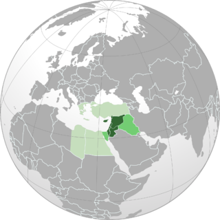 Levant Region in the Eastern Mediterranean