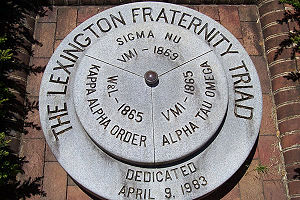 Triad (fraternities) - A monument in Lexington honors the members of its Triad