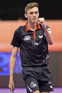 Liam Pitchford British table tennis player