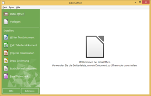 LibreOffice 4.3.4 unter Windows 8.1
