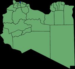 Tripolis beliggenhed i Libyen