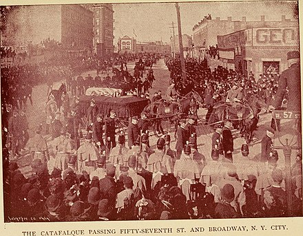 Funeral procession in New York Life and deeds of General Sherman, including the story of his great march to the sea (1891) (14782457714).jpg