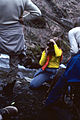 Lisa Tiefer at Nye Mtn plane crash (brother was copilot) 1979.jpg