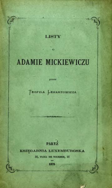 File:Listy o Adamie Mickiewiczu.djvu