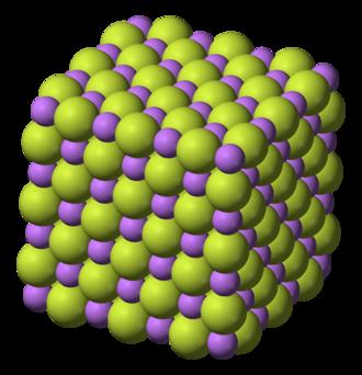 Lithium fluoride - Image: Lithium fluoride 3D ionic