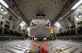 Loading a Sea King Helicopter onto a RAF C17 for Return to UK From Afghanistan MOD 45158064.jpg