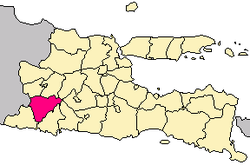 Location of Ponorogo Regency in East java