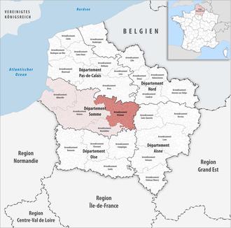 Arrondissement of Péronne - Image: Locator map of Arrondissement Péronne