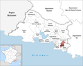 Locator map of Kanton Aubagne.png