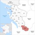 Locator map of Kanton Les Trois Monts 2019.png