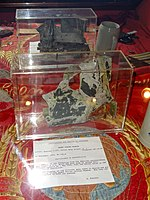 Lockheed U-2 fragment from plane shot down over Soviet Union on May 1, 1960 - National Cryptologic Museum - DSC08046.JPG