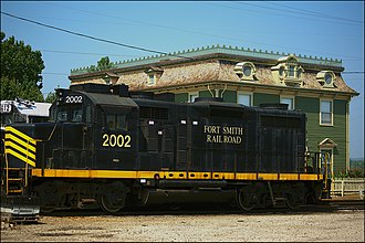 Fort Smith Railroad - Image: Locomotive 2002 in Fort Smith
