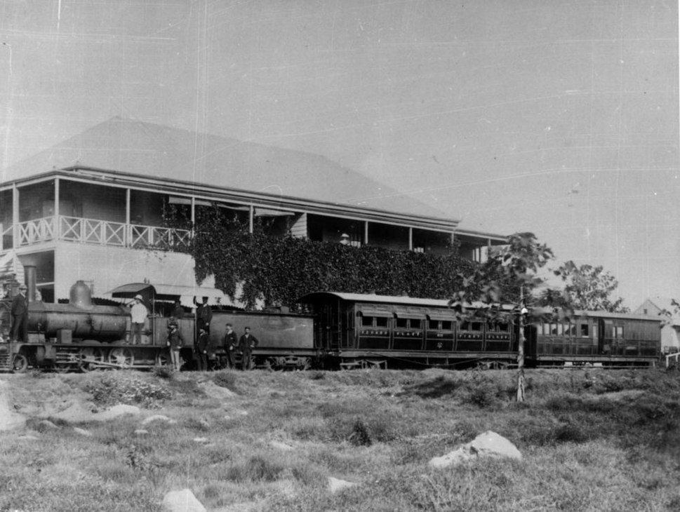 Locomotive at the Cooktown Railway Station, ca. 1889