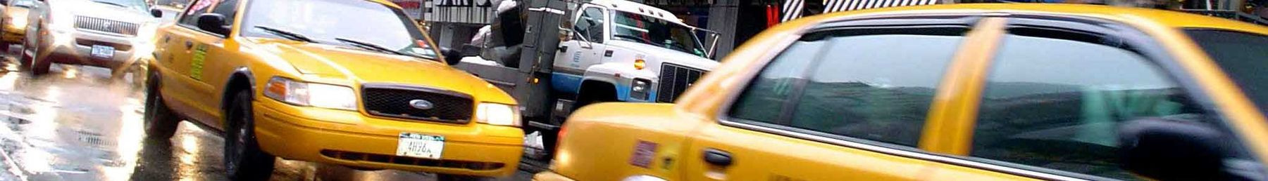 New York City's iconic yellow taxi cabs