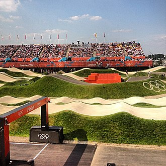 Lee Valley VeloPark - The BMX Track during the 2012 Summer Olympics