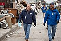 Long Beach, N.Y., Nov. 19, 2012 -- Shannon Arledge and Mark Mitchell from FEMA Community Relations canvas a Long Island neighborhood checking on Hurricane Sandy survivors. The team - DPLA - fbd424deb46881b0b9517e31efcc9cee.jpg