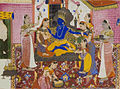 Lord Krishna Enthroned and Adored.jpg