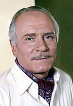Photo of Laurence Olivier in 1973.
