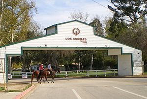 Equidome - Entrance to the Los Angeles Equestrian Center complex.