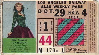 Los Angeles Railway - Image: Los Angeles Railway Weekly Pass 1944