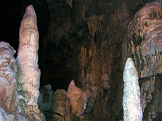 Lost World Caverns - Image: Lost World Formations