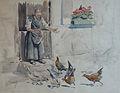 Lothar von Seebach-La nourriture des poules.jpg