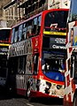 Lothian Buses bus 322 Volvo B9TL Plaxton Gemini 2 SN09 CVC Route 26 Connect route branding Zoom To The Zoo Zebra decals.jpg