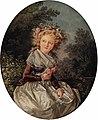 Louis-Roland Trinquesse Portrait of a girl three-quarter length 1785.jpg