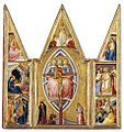 Luca di Tommè - The Trinity and the Crucifixion, with Scenes from the Life of Christ.jpg