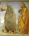 Luca signorelli, loreto, sagrestia della cura, coppia di apostoli 01.jpg