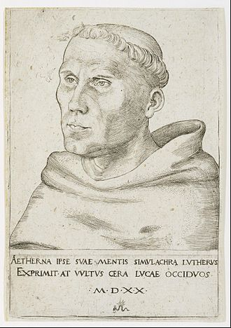 Martin Luther - Luther as a friar, with tonsure