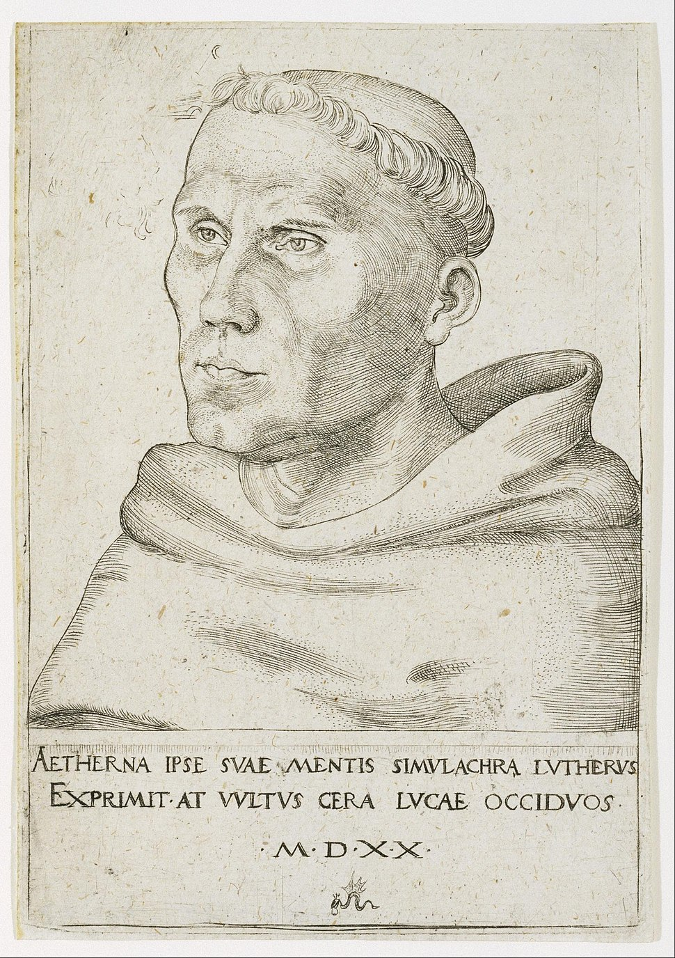 Lucas Cranach the Elder - Martin Luther, Bust in Three-Quarter View - Google Art Project