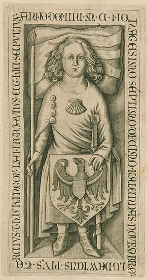 Louis III, Landgrave of Thuringia - Grave plate of Louis III, Landgrave of Thuringia
