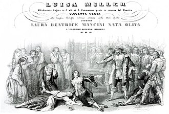 Luisa Miller - The death of Luisa from the first edition vocal score