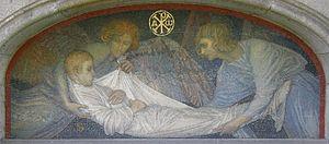 Luisenfriedhof III - Image: Luisenfriedhof III Grab Grisebach, Mosaik