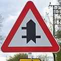 Luxembourg road sign A,22a Bicherhaff.jpg