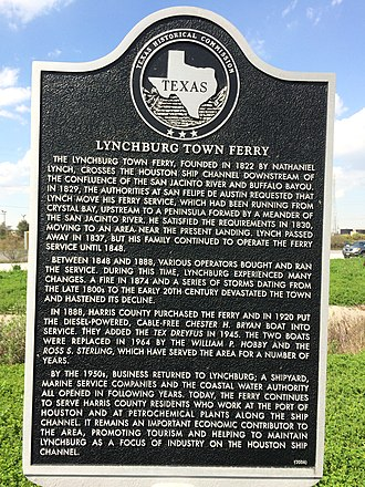 Harrisburg, Houston - Lynchburg town historical marker