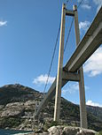Lysefjorden - bridge from below.JPG