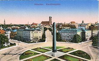 Brienner Straße (Munich) - Karolinenplatz, 1914